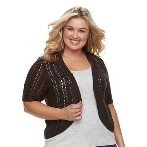 PLUS SIZE 3X CROFT & BARROW POINTELLE SHRUG